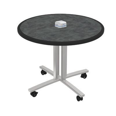 Circular 29H x 36W x 36L Conference Table Top Finish: Brushed Pewter