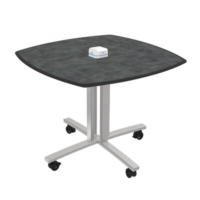 Square 29H x 36W x 36L Conference Table Top Finish: Brushed Pewter