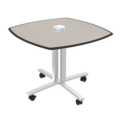 Square 29H x 36W x 36L Conference Table Top Finish: Gray Glace