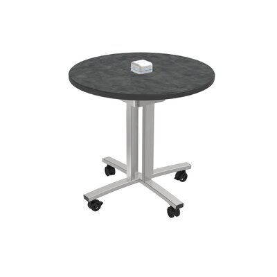 Circular 29H x 30W x 30L Conference Table Top Finish: Brushed Pewter