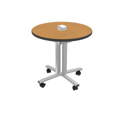 Circular Conference Table Top Finish: Golden Oak
