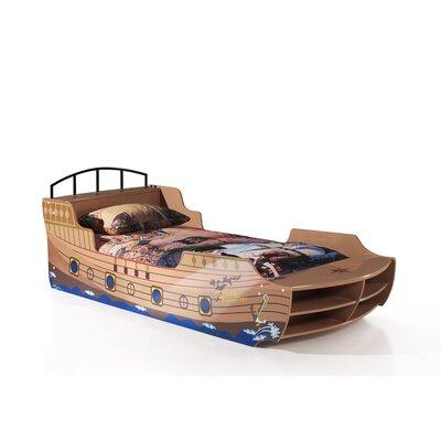 Piratenbett 90 x 200 cm | Kinderzimmer > Kinderbetten > Etagenbetten | Mdf - Glänzend - Lackiert - Holz | Vipack