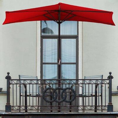 Half Market Umbrella Color: Red