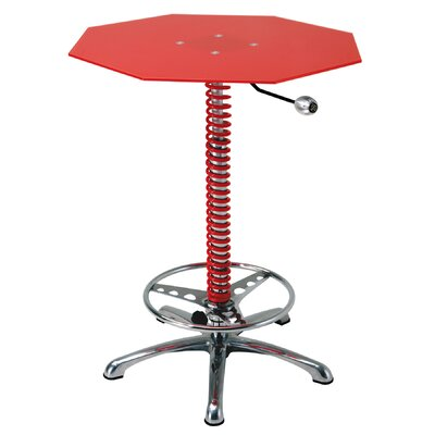 Racing Style Pub Table Finish: Red