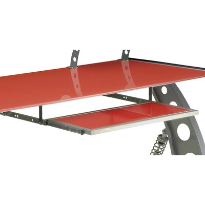 1 H x 28 W Desk Keyboard Tray Color: Red