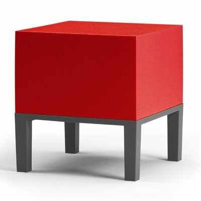 Primary Pouf Upholstery: Red