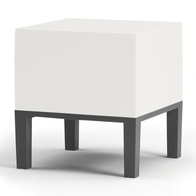 Primary Pouf Upholstery: White