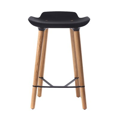 Pilot 24.8 Bar Stool Upholstery: Black
