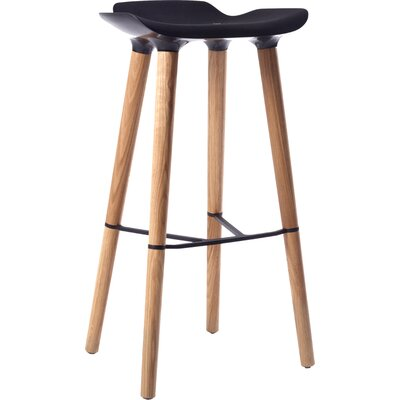 Pilot 30.7 Bar Stool Upholstery: Black