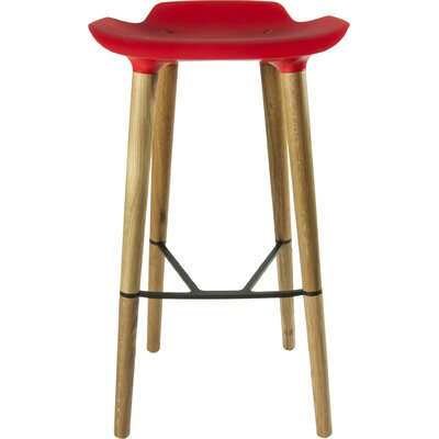 Pilot 30.7 Bar Stool Upholstery: Red