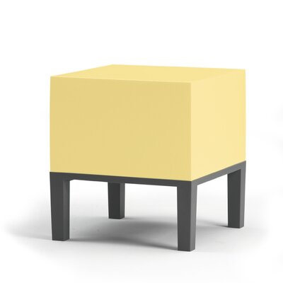 Primary Ottoman Upholstery: Pastel Yellow