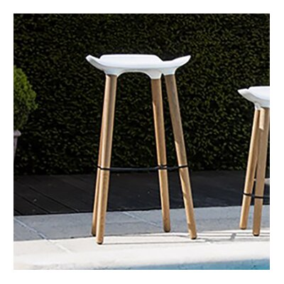 Pilot 24.8 Bar Stool Upholstery: White