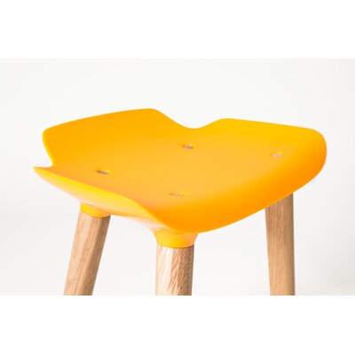 Pilot 24.8 Bar Stool Upholstery: Gold