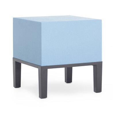 Sonam Pouf Ottoman Upholstery: Steel Blue