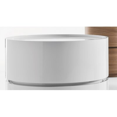 Dedalo 1 Drawer Nightstand Color: White high gloss