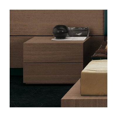 People 2 Drawer Nightstand Finish: Walnut