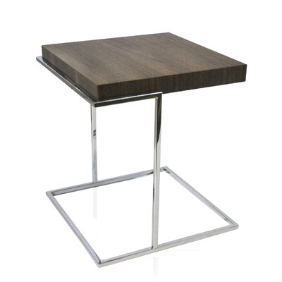 Servoquadro End Table Color: Walnut