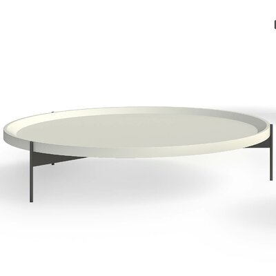 Abaco Coffee Table Size: Low, Top Color: Piombo Lacquer