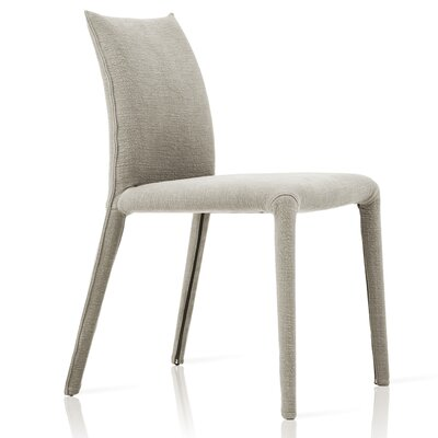 Emi Upholstered Dining Chair Upholstery: Grey