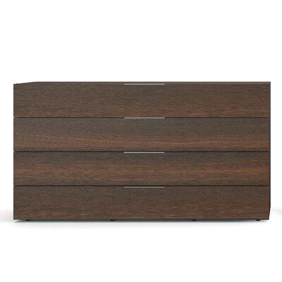 Spazio 4 Drawer Dresser Color: Burnt Oak / Black Titanium