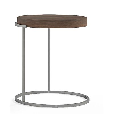 Servogiro End Table Color: Burnt Oak / Black Titanium