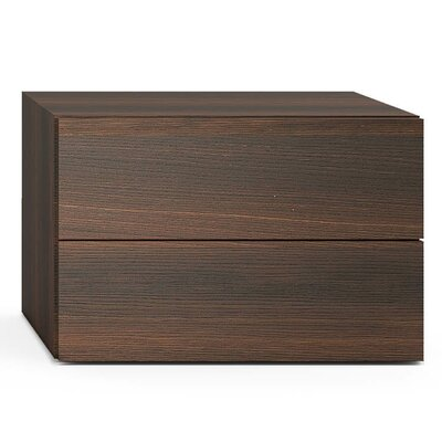 People 2 Drawer Nightstand Color: Burnt Oak
