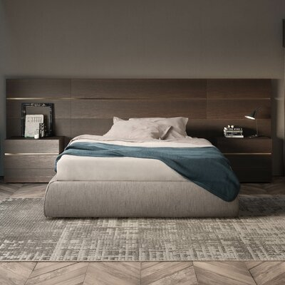 People Upholstered Panel Bed Size: King