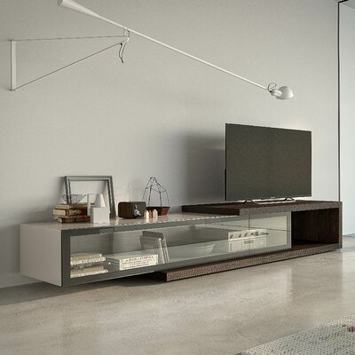 People 97 TV Stand Color: Walnut / White High gloss