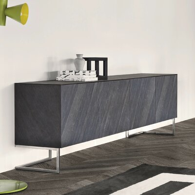 Spazio Sideboard Color: White High Gloss