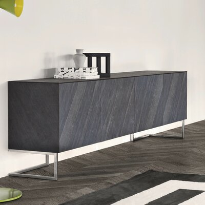 Spazio Sideboard Color: Grey Slate