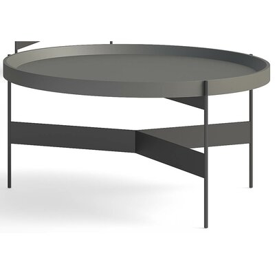 Abaco Coffee Table Top Finish: Perla Lacquer, Size: Tall