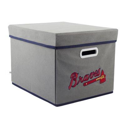 My Owners Box MLB Covered Storage Cube - MLB Team: Atlanta Braves