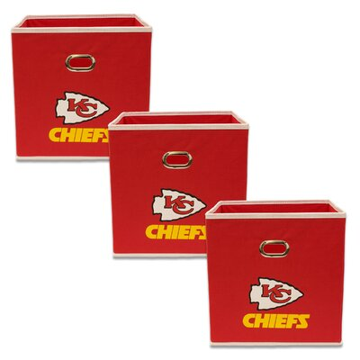 NFL Fabric Storage Bin NFL Team: Kansas City Chiefs 11000-300KCC