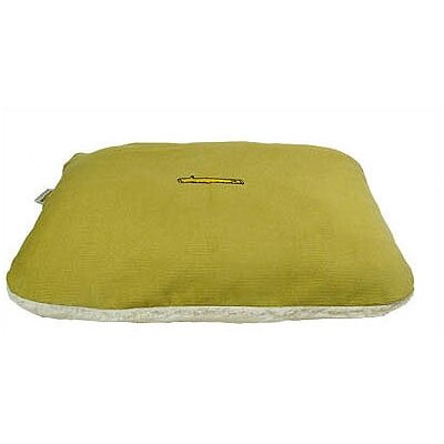 Corduroy and Sherpa Rectangular Pet Bed Cover Size: Small