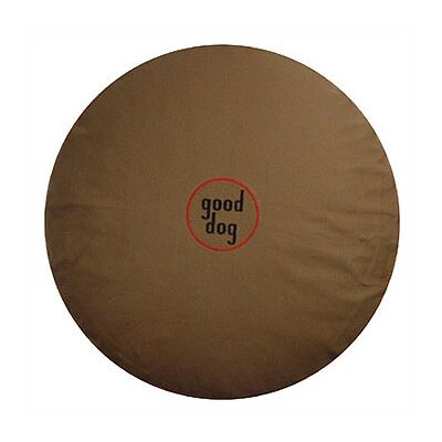 Good Dog Logo Round Dog Pillow Size: Large (42 L x 42 W)