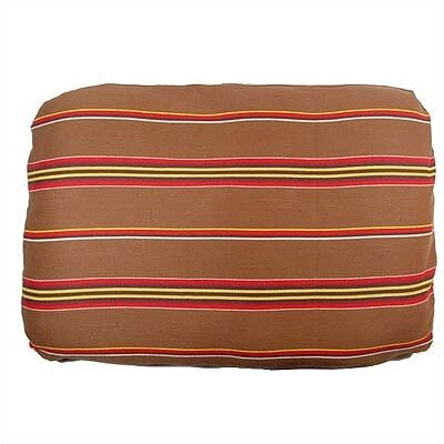Patterned Rectangular Pet Bed Cover Size: Medium, Fabric: Brown Ticking Stripe