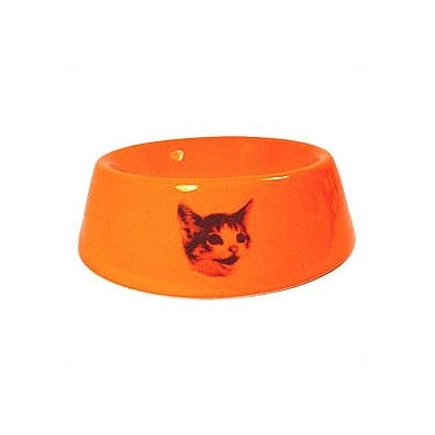 Slope Side Happy Cat Bowl Color: Yellow