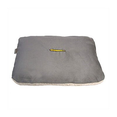 Corduroy and Sherpa Rectangular Pet Bed Cover Size: Large
