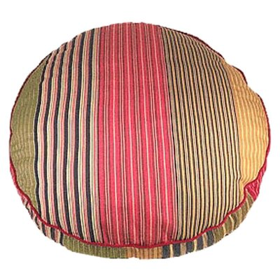 Oxford Stripe Round Dog Pillow Size: Small (25 L x 25 W)
