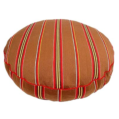 Brown Ticking Stripe Round Dog Pillow Size: Large (42 L x 42 W)