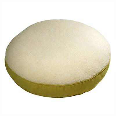 Corduroy and Sherpa Round Dog Pillow Size: Small (25 L x 25 W), Color: Lime