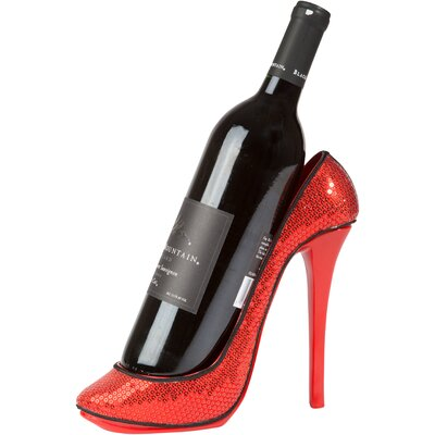 Sequin Print High Heel 1 Bottle Tabletop Wine Rack