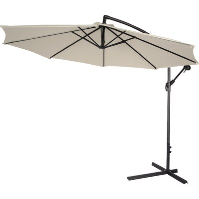 10' Cantilever Umbrella Canopy Color: Black