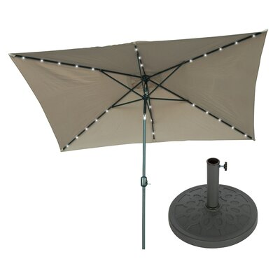 6.5 x 10 Rectangular Illuminated Umbrella Fabric: Tan