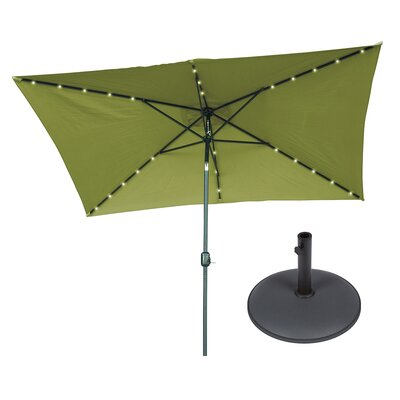 6.5 x 10 Rectangular Illuminated Umbrella Fabric: Light Green