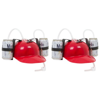 Beer and Soda Helmet Drinking Hat EZ-HELMET-RED-2X