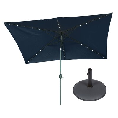 6.5 x 10 Rectangular Illuminated Umbrella Fabric: Blue