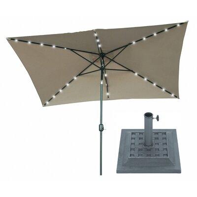 6.5 x 10 Rectangular Illuminated Umbrella Fabric: Tan