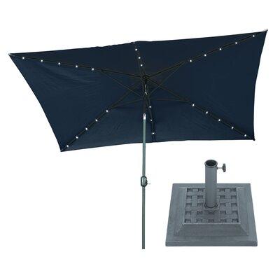 6.5 x 10 Rectangular Illuminated Umbrella Fabric: Blue