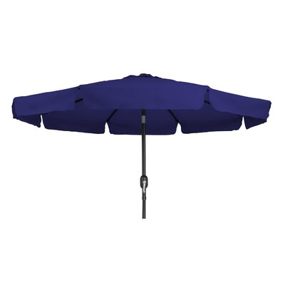 9 Tilt Crank Drape Umbrella Fabric: Blue